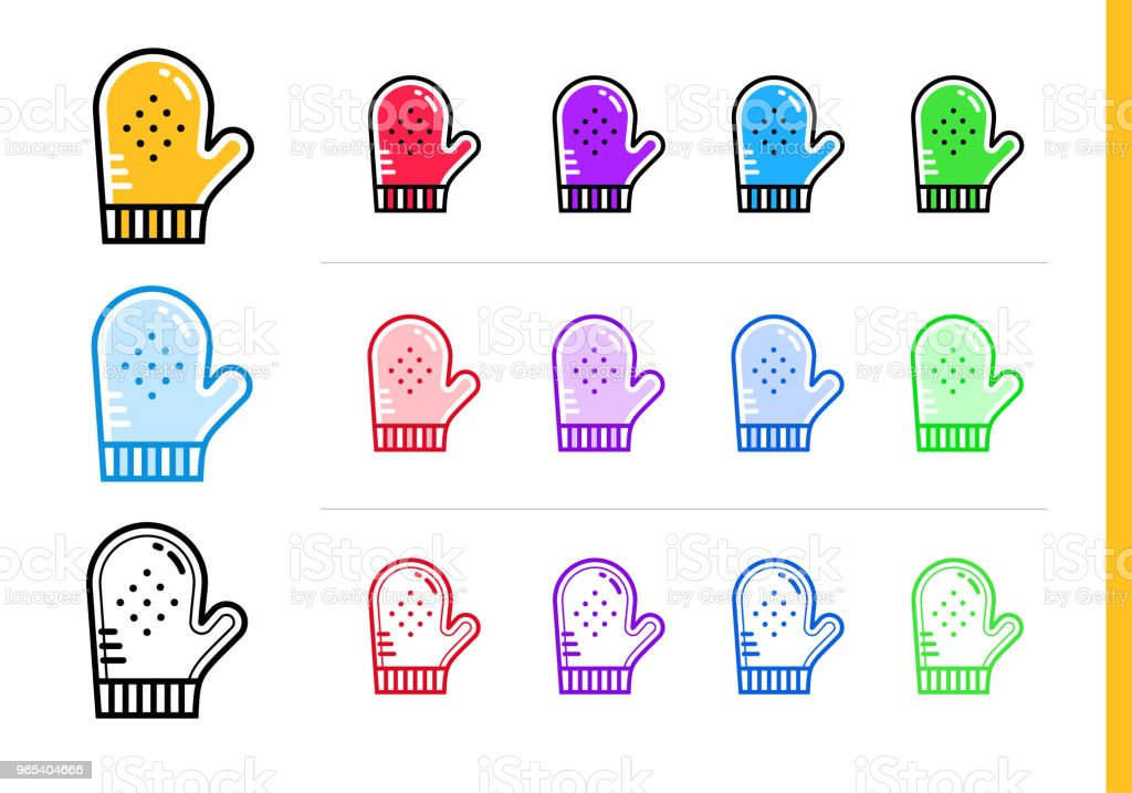 Outline COOKING GLOVE icon in different colors. Vector elements suitable for website, mobile application and presentation outline cooking glove icon in different colors vector elements suitable for website mobile application and presentation - stockowe grafiki wektorowe i więcej obrazów bez ludzi royalty-free