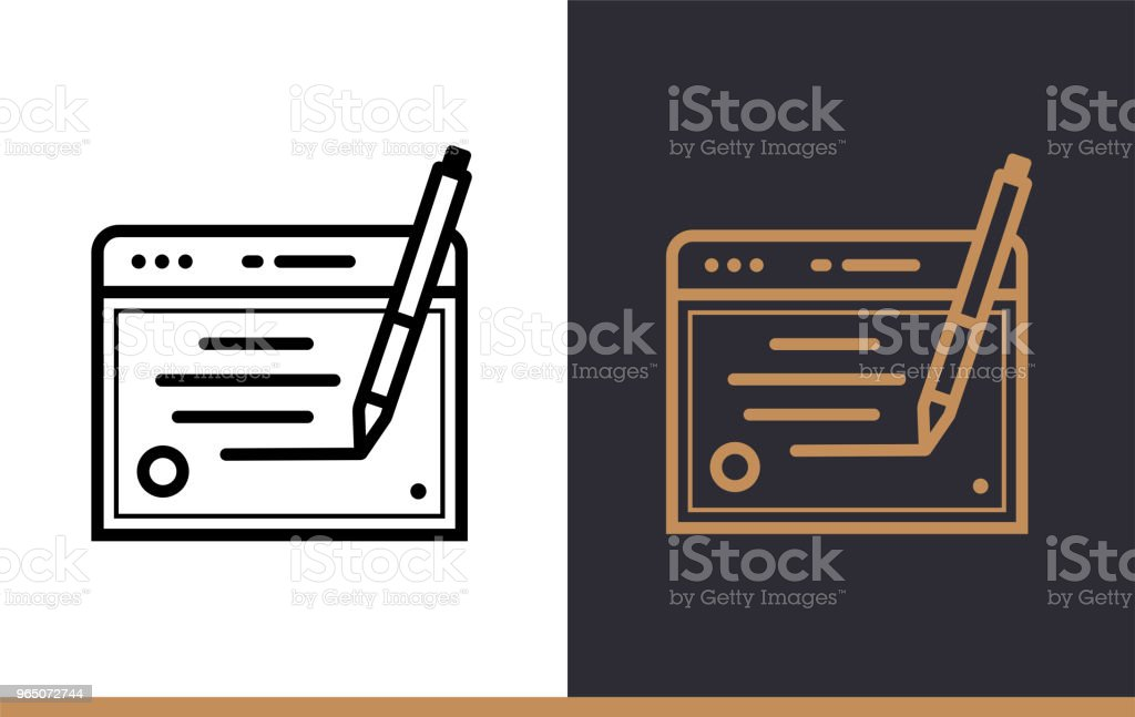 Outline copywriting icon for startup business. Line icons suitable for info graphics, print media and interfaces royalty-free outline copywriting icon for startup business line icons suitable for info graphics print media and interfaces stock vector art & more images of business
