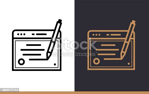 Outline Copywriting Icon For Startup Business Line Icons Suitable For Info Graphics Print Media And Interfaces Stock Vector Art & More Images of Business 965072744