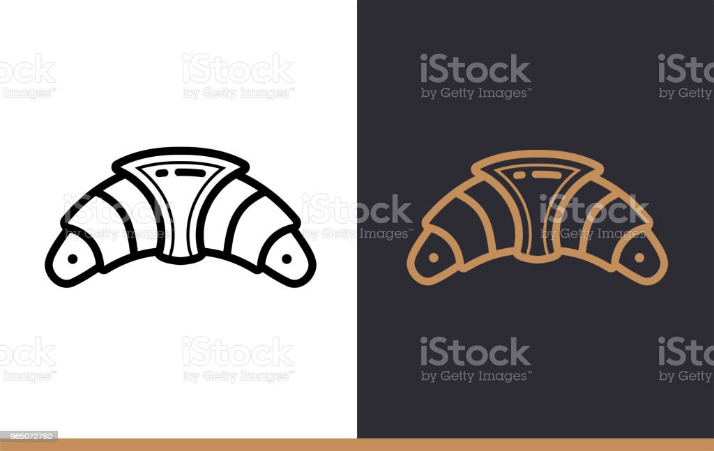 Outline CROISSANT icon, bakery. Vector line icons suitable for info graphics, print media and interfaces royalty-free outline croissant icon bakery vector line icons suitable for info graphics print media and interfaces stock vector art & more images of bakery
