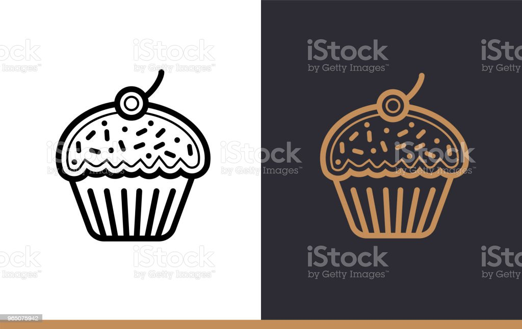 Outline CUPCAKE icon, bakery. Vector line icons suitable for info graphics, print media and interfaces royalty-free outline cupcake icon bakery vector line icons suitable for info graphics print media and interfaces stock vector art & more images of bakery