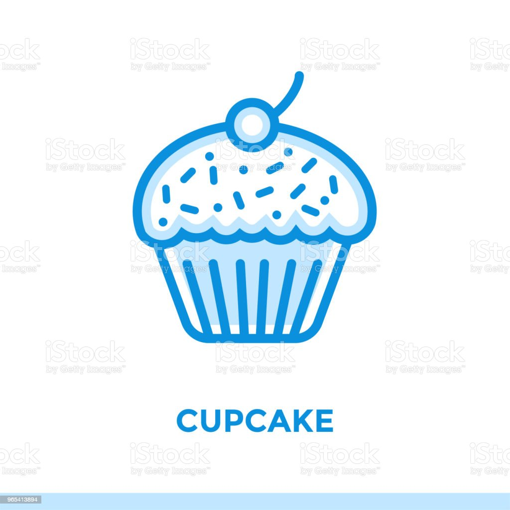 Outline CUPCAKE icon. Vector pictogram suitable for print, website and presentation outline cupcake icon vector pictogram suitable for print website and presentation - stockowe grafiki wektorowe i więcej obrazów bez ludzi royalty-free