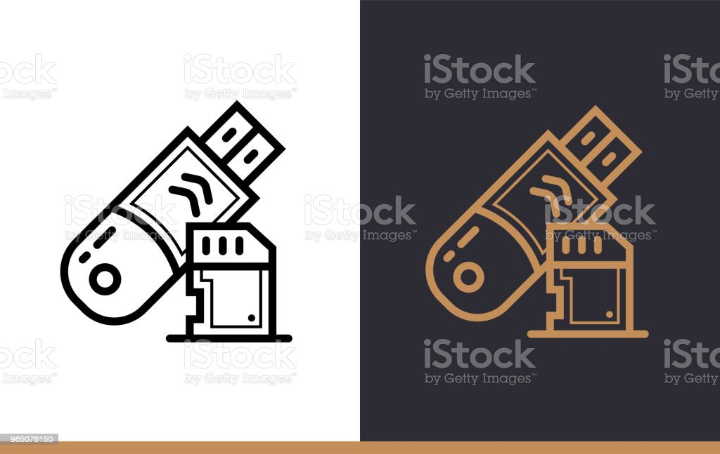 Outline data storage icon for startup business. Line icons suitable for info graphics, print media and interfaces outline data storage icon for startup business line icons suitable for info graphics print media and interfaces - stockowe grafiki wektorowe i więcej obrazów bez ludzi royalty-free