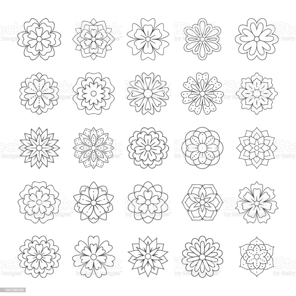 Un Apercu Doodle Fleurs Pour Livre De Coloriage Adulte Illustration