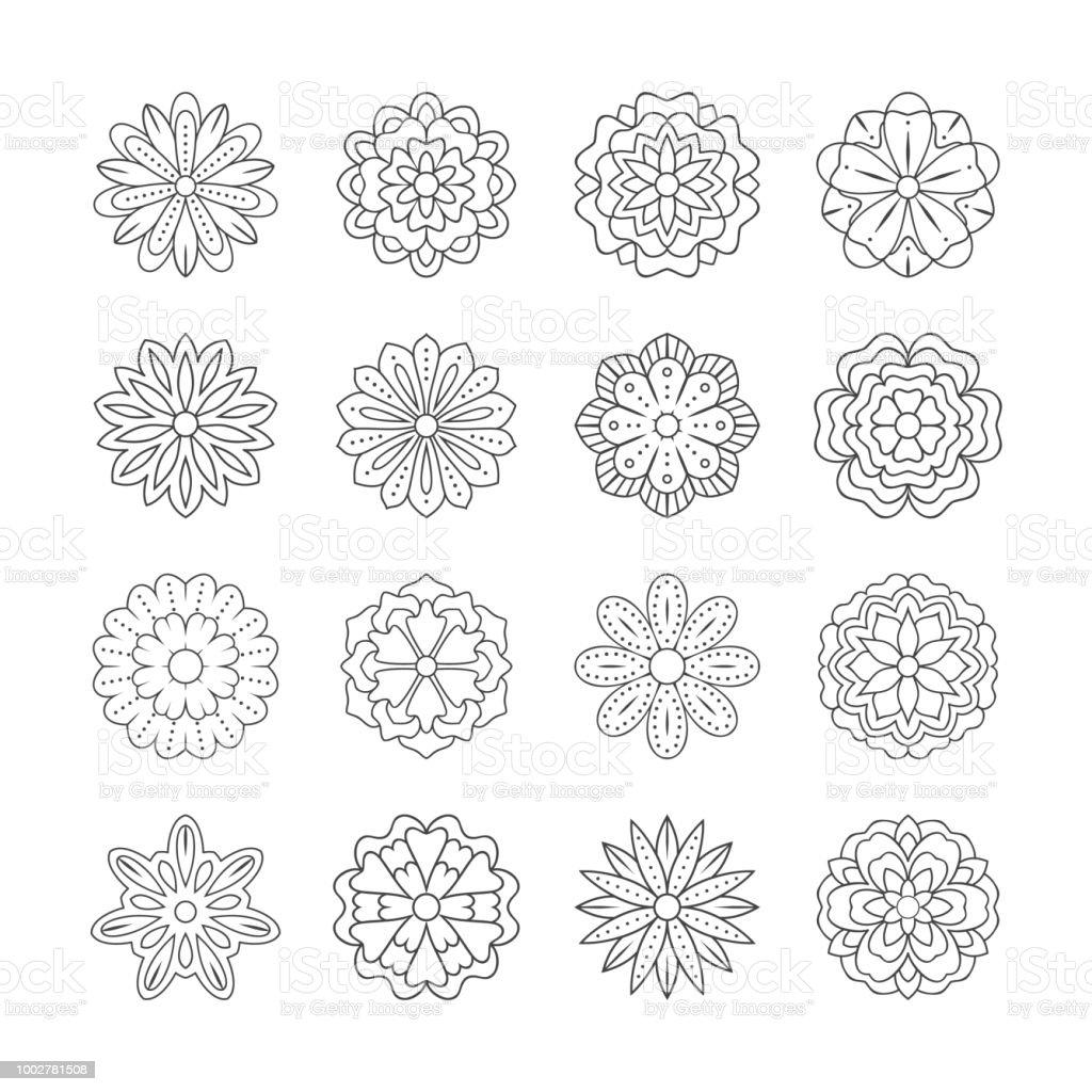 Un Apercu Doodle Fleurs Pour Livre De Coloriage Adulte Illustration De Ligne Coloriage Vecteurs Libres De Droits Et Plus D Images Vectorielles De Abstrait Istock