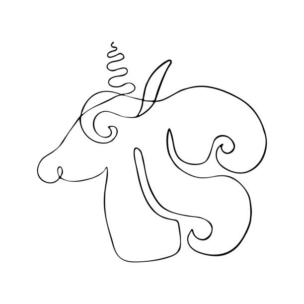 Unicorn Black And White Vector Art Icons And Graphics For Free Download