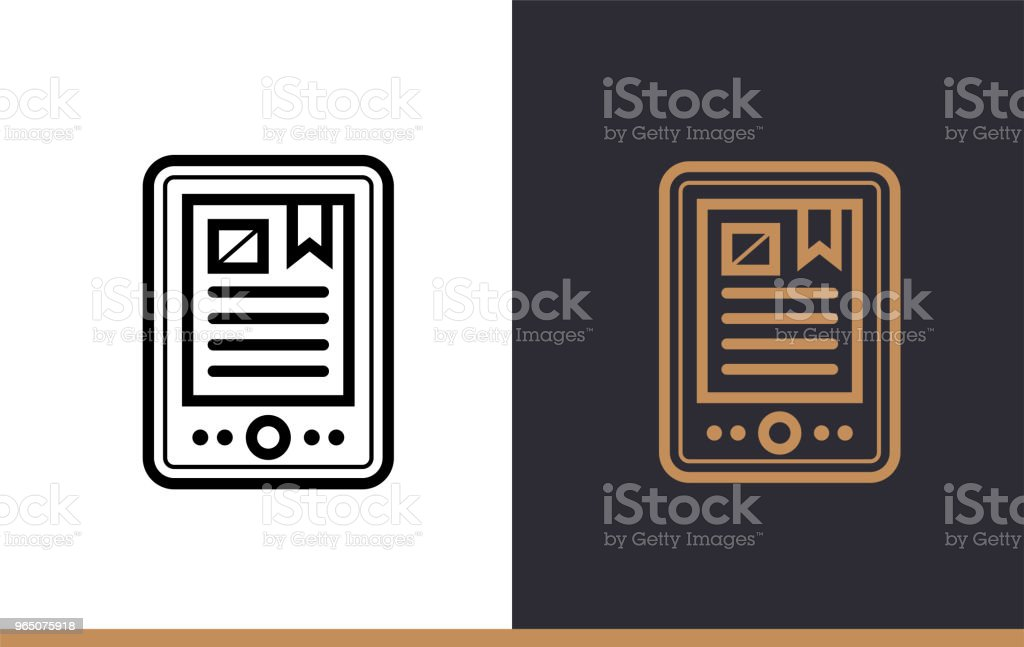 Outline E-BOOK icon for education. Line icons suitable for info graphics, print media and interfaces royalty-free outline ebook icon for education line icons suitable for info graphics print media and interfaces stock vector art & more images of design