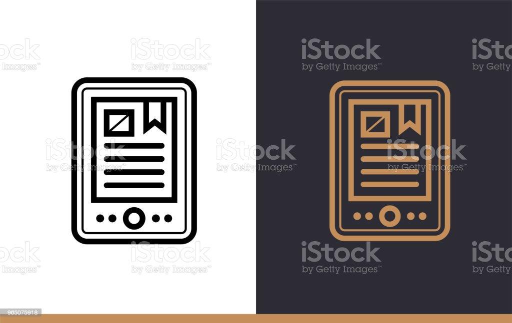 Outline E-BOOK icon for education. Line icons suitable for info graphics, print media and interfaces outline ebook icon for education line icons suitable for info graphics print media and interfaces - stockowe grafiki wektorowe i więcej obrazów grafika wektorowa royalty-free
