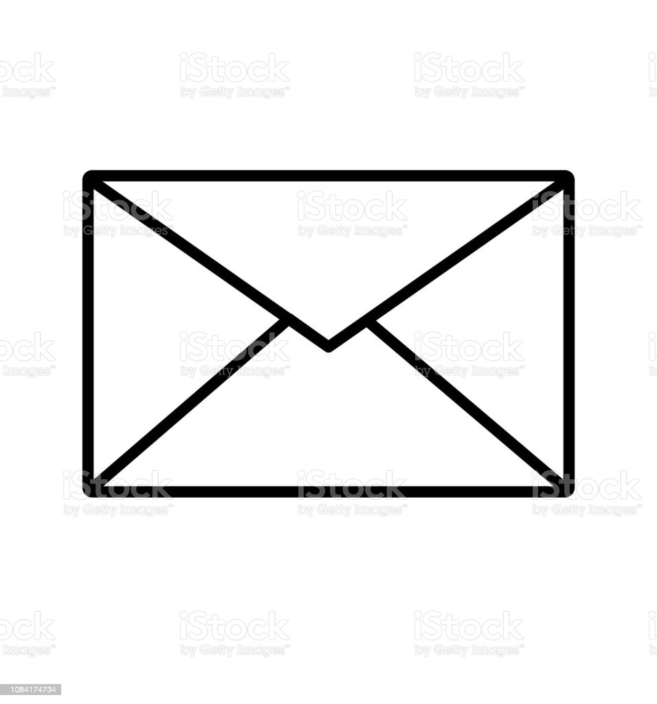 Outline Email Icon Mail Envelope Icon Vector Isolated On