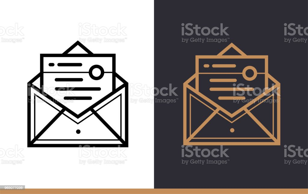Outline email marketing icon for startup business. Line icons suitable for info graphics, print media and interfaces outline email marketing icon for startup business line icons suitable for info graphics print media and interfaces - stockowe grafiki wektorowe i więcej obrazów bez ludzi royalty-free