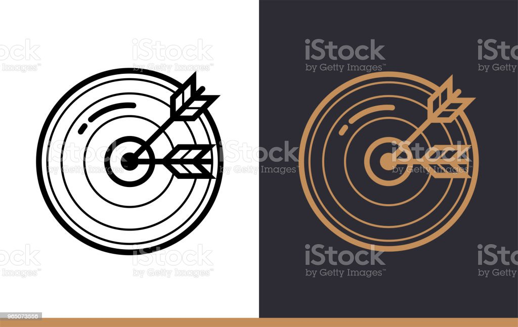Outline goal icon for startup business. Vector line icons suitable for info graphics, print media and interfaces outline goal icon for startup business vector line icons suitable for info graphics print media and interfaces - stockowe grafiki wektorowe i więcej obrazów bez ludzi royalty-free