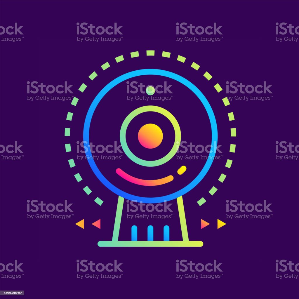 Outline gradient icon Web camera. Online education, e-learning. Suitable for print, interface, web, presentation royalty-free outline gradient icon web camera online education elearning suitable for print interface web presentation stock vector art & more images of design