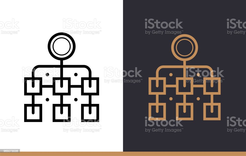 Outline hierarchical icon for startup business. Vector line icons suitable for info graphics, print media and interfaces royalty-free outline hierarchical icon for startup business vector line icons suitable for info graphics print media and interfaces stock vector art & more images of business