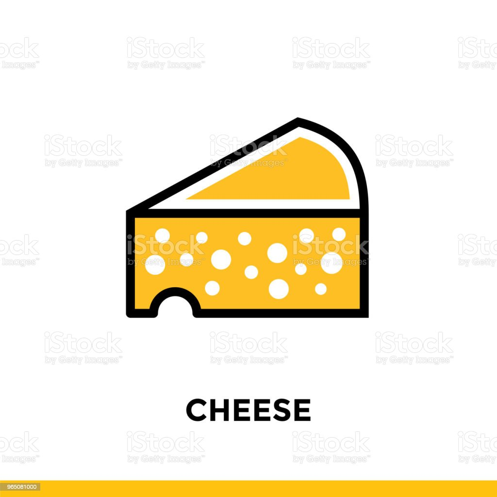 Outline icon CHEESE of bakery, cooking. Vector line icons suitable for info graphics, print media and interfaces outline icon cheese of bakery cooking vector line icons suitable for info graphics print media and interfaces - stockowe grafiki wektorowe i więcej obrazów bez ludzi royalty-free