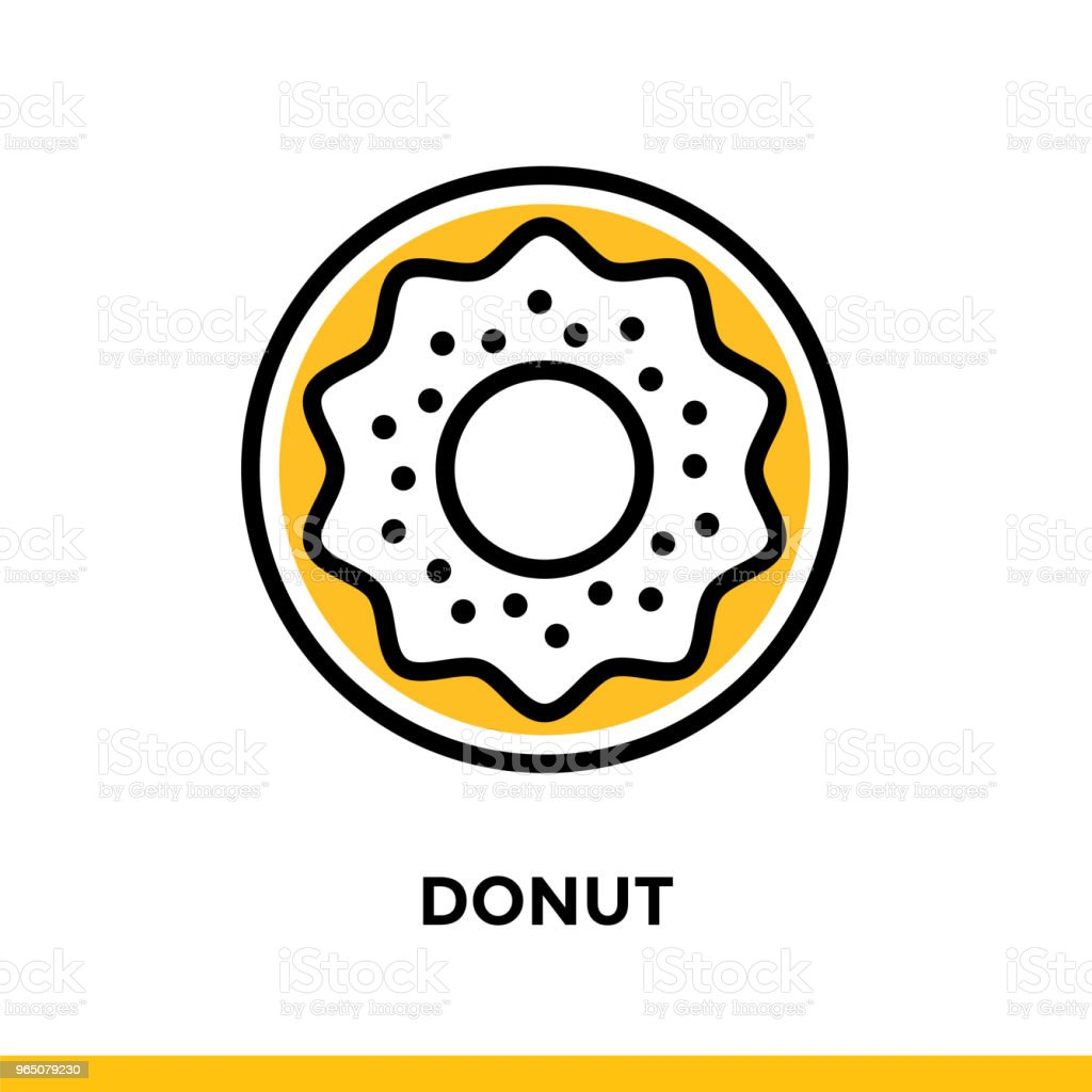 Outline icon DONUT of bakery, cooking. Vector line icons suitable for info graphics, print media and interfaces royalty-free outline icon donut of bakery cooking vector line icons suitable for info graphics print media and interfaces stock vector art & more images of bakery