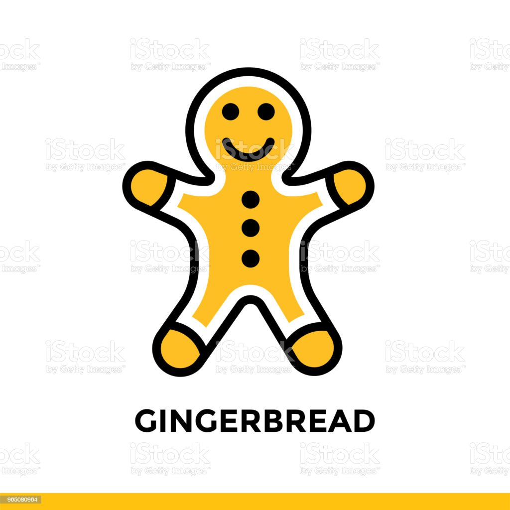 Outline icon GINGERBREAD of bakery, cooking. Vector line icons suitable for info graphics, print media and interfaces outline icon gingerbread of bakery cooking vector line icons suitable for info graphics print media and interfaces - stockowe grafiki wektorowe i więcej obrazów bez ludzi royalty-free