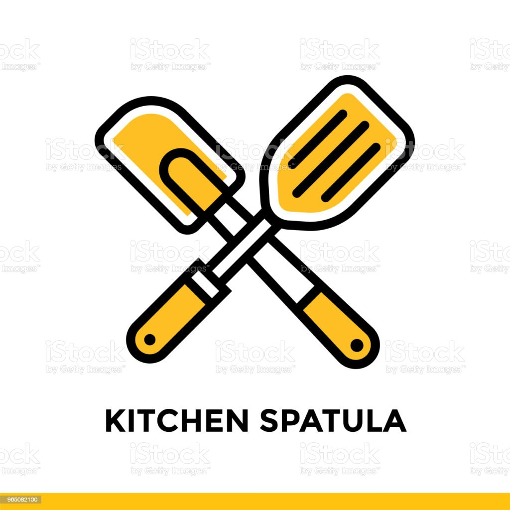 Outline icon Kitchen spatula of bakery, cooking. Vector line icons suitable for info graphics, print media and interfaces royalty-free outline icon kitchen spatula of bakery cooking vector line icons suitable for info graphics print media and interfaces stock vector art & more images of bakery