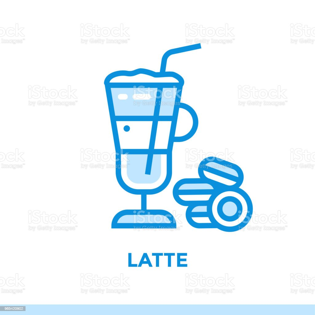 Outline icon LATTE of bakery, cooking. Vector line icons suitable for info graphics, print media and interfaces royalty-free outline icon latte of bakery cooking vector line icons suitable for info graphics print media and interfaces stock vector art & more images of bakery