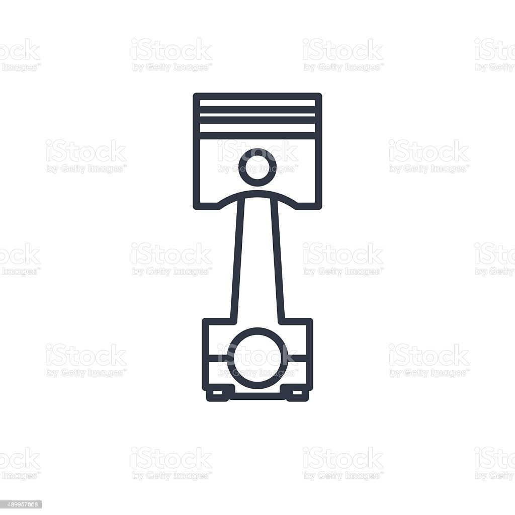 Outline Icon Of Engine Piston Stock Vector Art Amp More