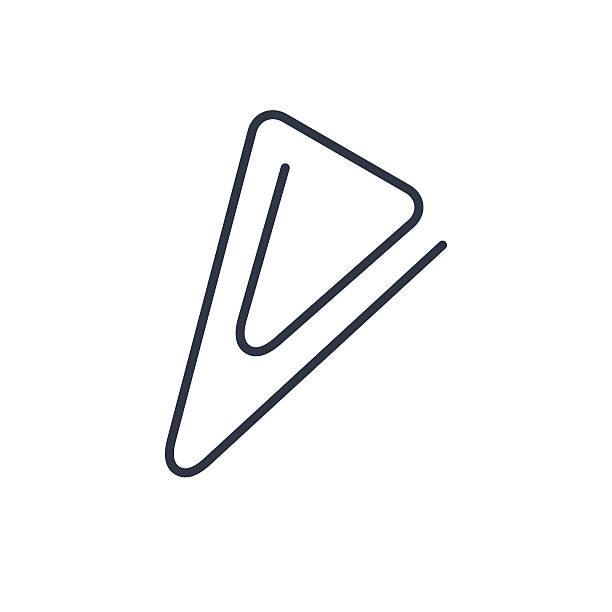 illustrations, cliparts, dessins animés et icônes de icônes de contour de paper clip - infographie processus