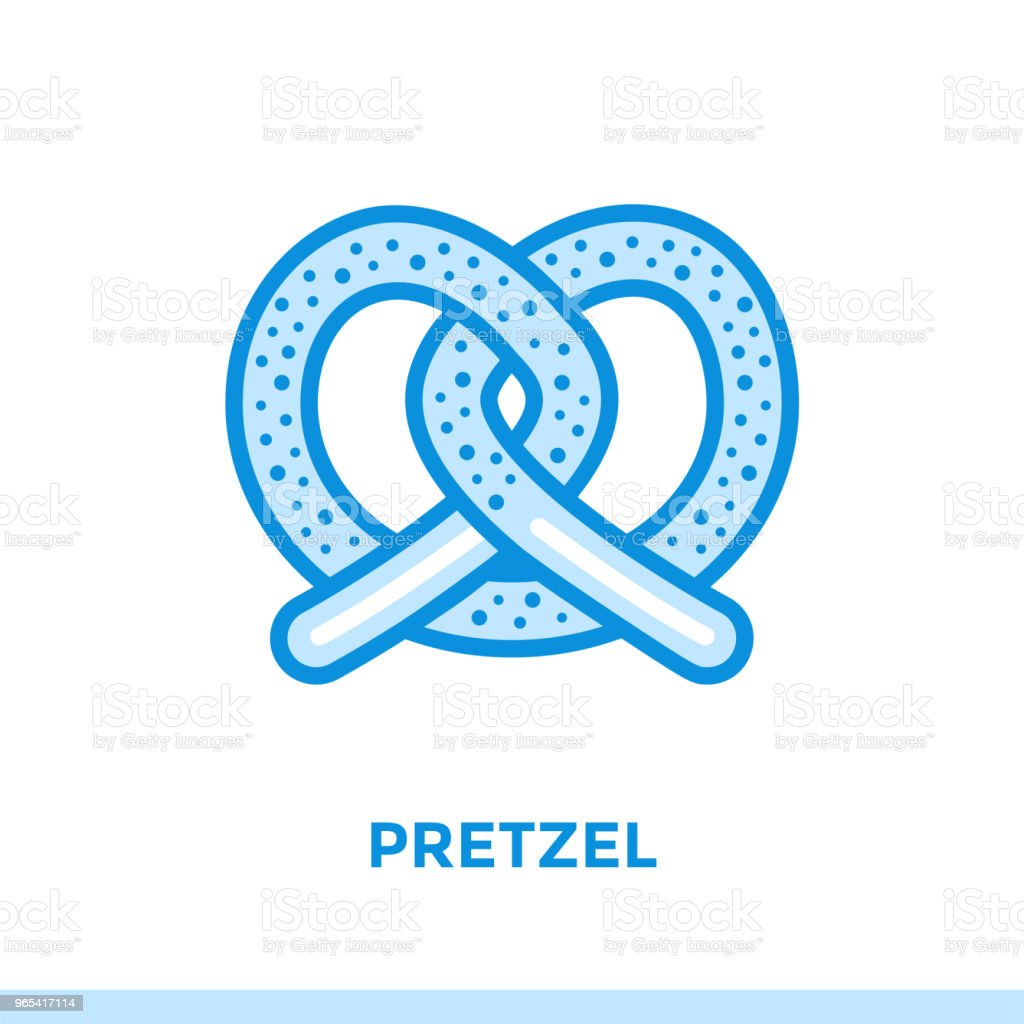 Outline icon PRETZEL of bakery, cooking. Vector line icons suitable for info graphics, print media and interfaces royalty-free outline icon pretzel of bakery cooking vector line icons suitable for info graphics print media and interfaces stock vector art & more images of bakery