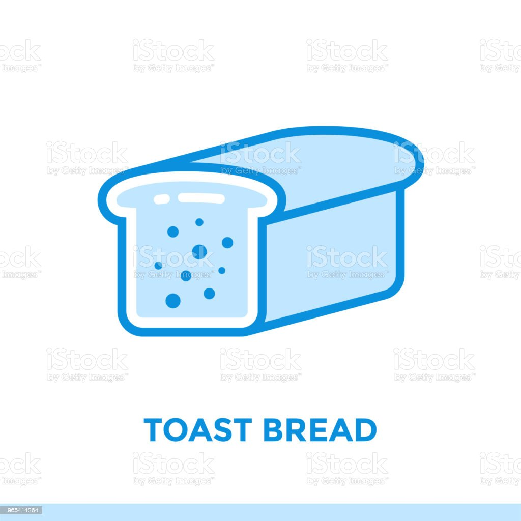 Outline icon TOAST BREAD of bakery, cooking. Vector line icons suitable for info graphics, print media and interfaces royalty-free outline icon toast bread of bakery cooking vector line icons suitable for info graphics print media and interfaces stock vector art & more images of bakery