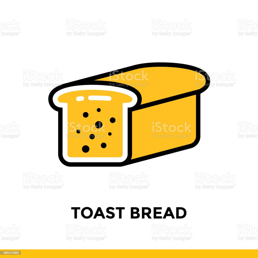 Outline icon TOAST BREAD of bakery, cooking. Vector line icons suitable for info graphics, print media and interfaces outline icon toast bread of bakery cooking vector line icons suitable for info graphics print media and interfaces - stockowe grafiki wektorowe i więcej obrazów bez ludzi royalty-free