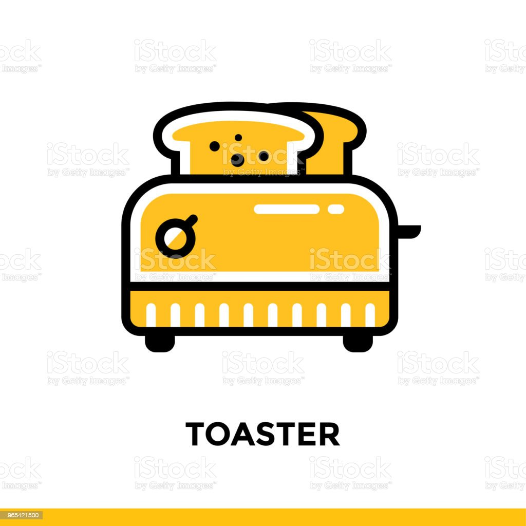 Outline icon TOASTER of bakery, cooking. Vector line icons suitable for info graphics, print media and interfaces outline icon toaster of bakery cooking vector line icons suitable for info graphics print media and interfaces - stockowe grafiki wektorowe i więcej obrazów bez ludzi royalty-free