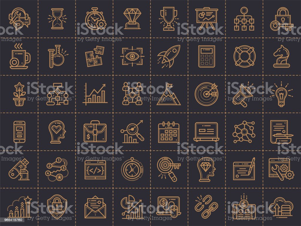 Outline icons collection for startup business. Modern outline icons suitable for print, banners and websites. outline icons collection for startup business modern outline icons suitable for print banners and websites - stockowe grafiki wektorowe i więcej obrazów badania royalty-free