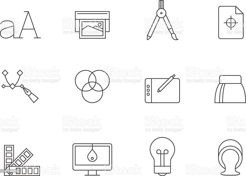 Esboço de ícones-impressão & Design gráfico - ilustração de arte em vetor