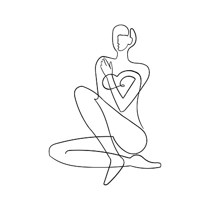Outline illustration of woman body