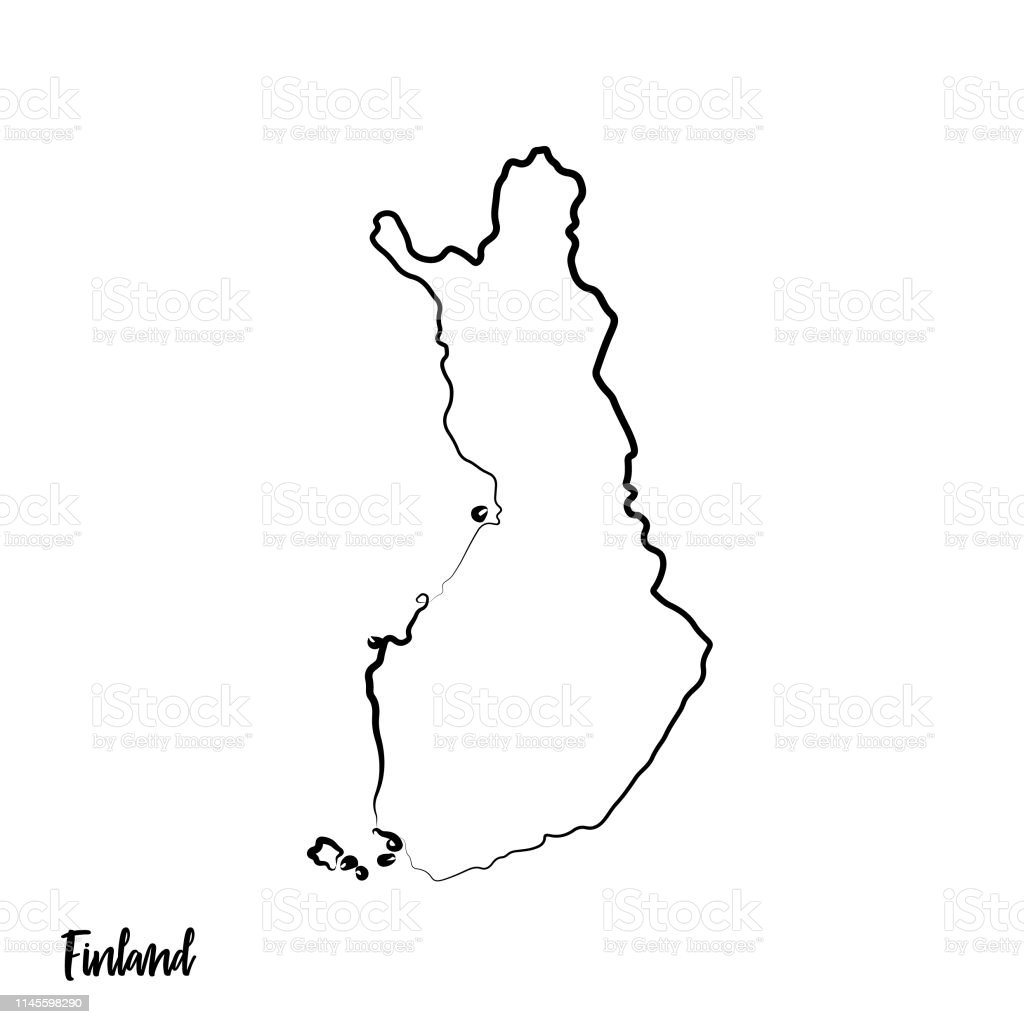 Outline Isolated Black Map Of Finland Stock Vector Art ...
