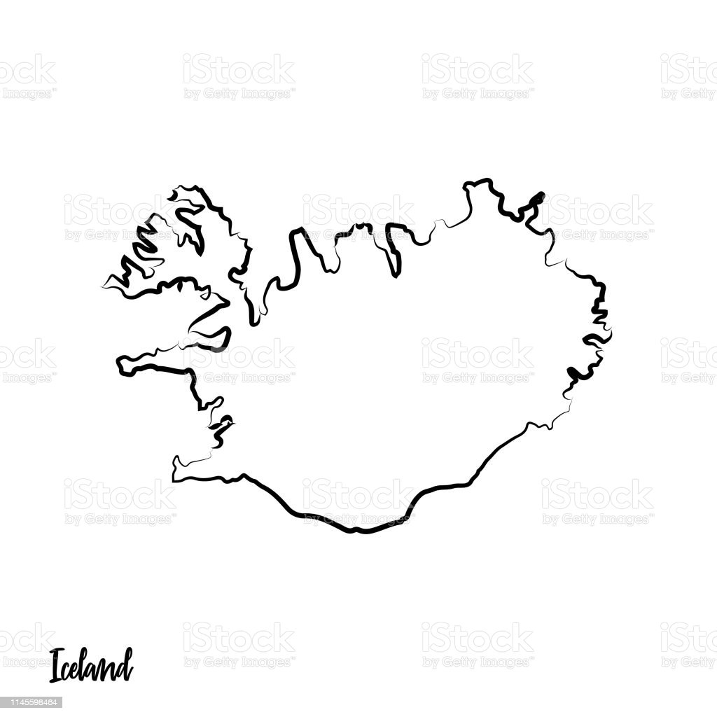 Image of: Outline Isolated Black Map Of Iceland Stock Illustration Download Image Now Istock