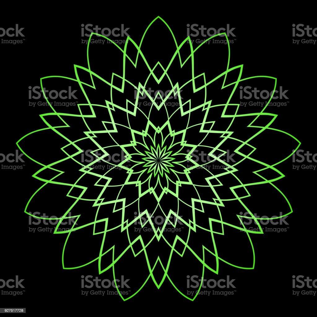 Umrissmandala Dekorative Runde Ornament Antistresstherapie Muster ...