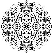 Outline Mandala for coloring book
