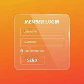 outline member login box on orange