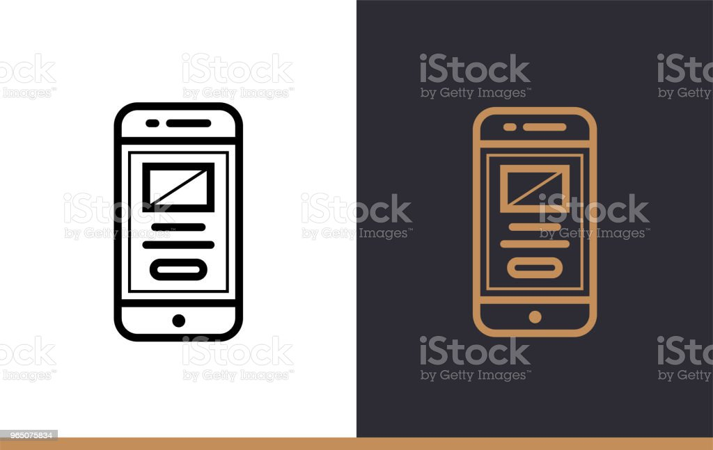 Outline mobile app icon for startup business. Vector line icons suitable for info graphics, print media and interfaces royalty-free outline mobile app icon for startup business vector line icons suitable for info graphics print media and interfaces stock vector art & more images of business