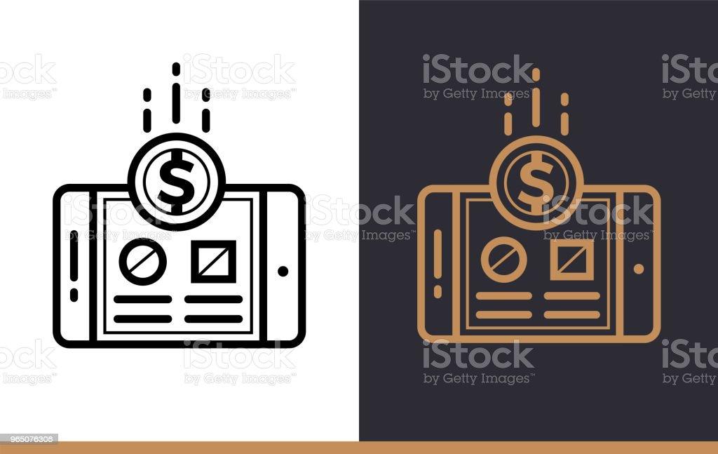 Outline monetization icon for startup business. Line icons suitable for info graphics, print media and interfaces outline monetization icon for startup business line icons suitable for info graphics print media and interfaces - stockowe grafiki wektorowe i więcej obrazów bez ludzi royalty-free