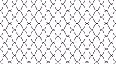 Outline net seamless pattern. Grid abstract vector illustration. Metal chain texture