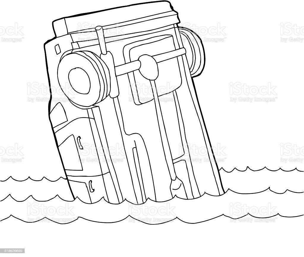 outline of car in water stock vector art 518626695 istock