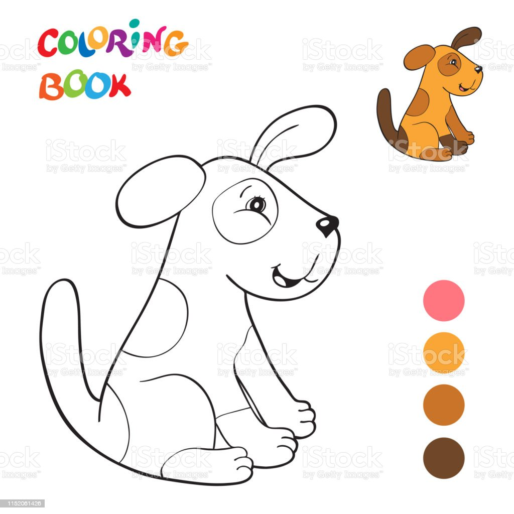 Garis Besar Kartun Tersenyum Anjing Merah Buku Mewarnai Vektor Untuk Anakanak Ilustrasi Stok Unduh Gambar Sekarang Istock
