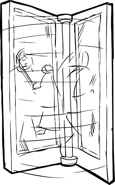 Royalty Free Revolving Door Clip Art Vector Images