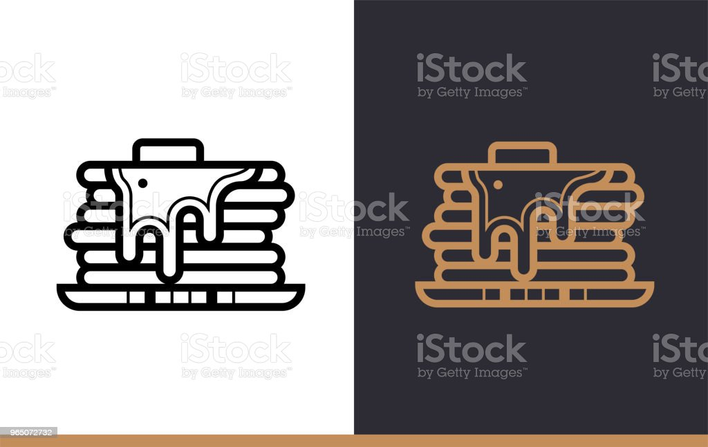 Outline PANCAKE icon, bakery. Vector line icons suitable for info graphics, print media and interfaces royalty-free outline pancake icon bakery vector line icons suitable for info graphics print media and interfaces stock vector art & more images of bakery
