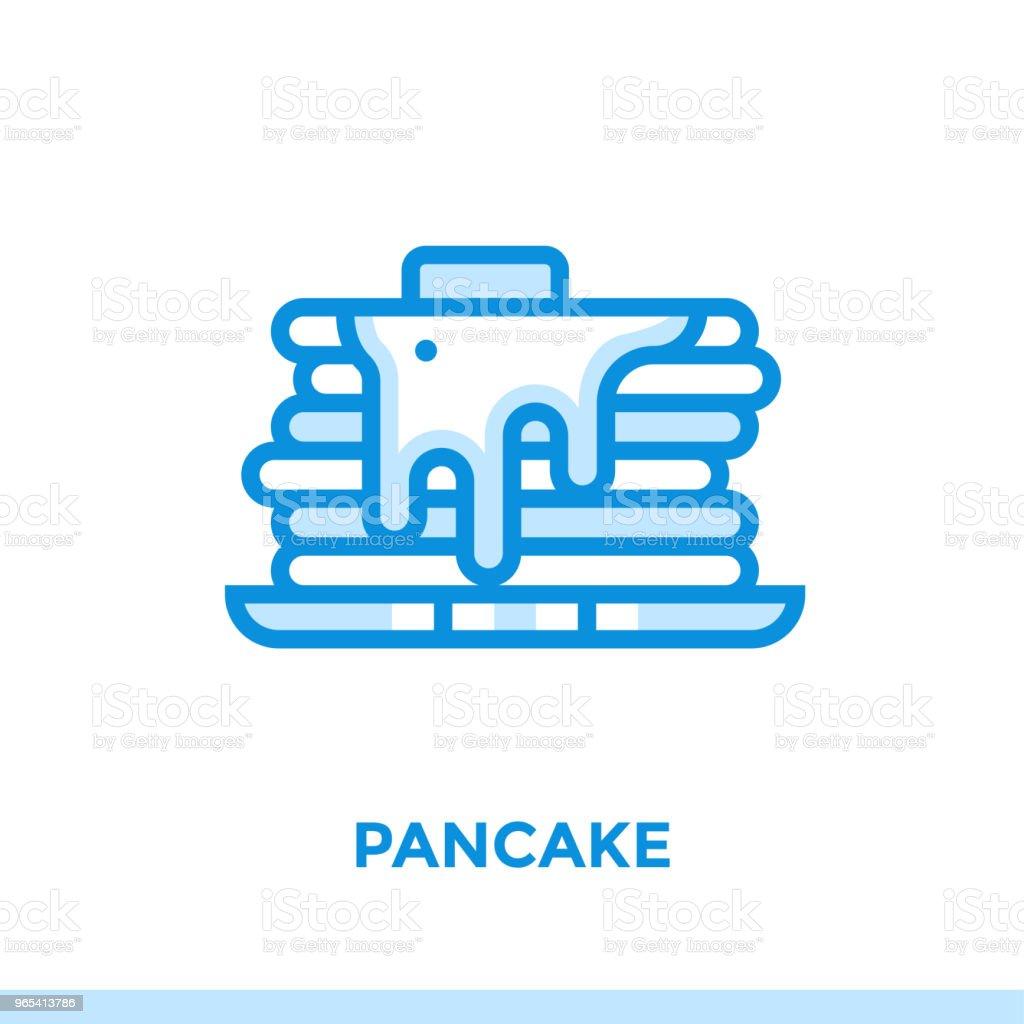 개요 팬케이크 아이콘입니다. 벡터 그림 인쇄, 웹사이트 및 프레 젠 테이 션에 적합 - 로열티 프리 0명 벡터 아트