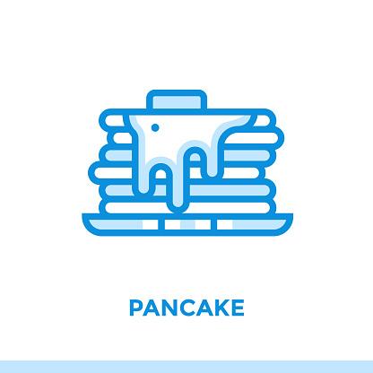 개요 팬케이크 아이콘입니다 벡터 그림 인쇄 웹사이트 및 프레 젠 테이 션에 적합 0명에 대한 스톡 벡터 아트 및 기타 이미지