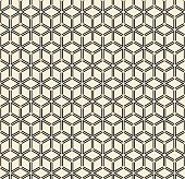 outline pattern of cubes