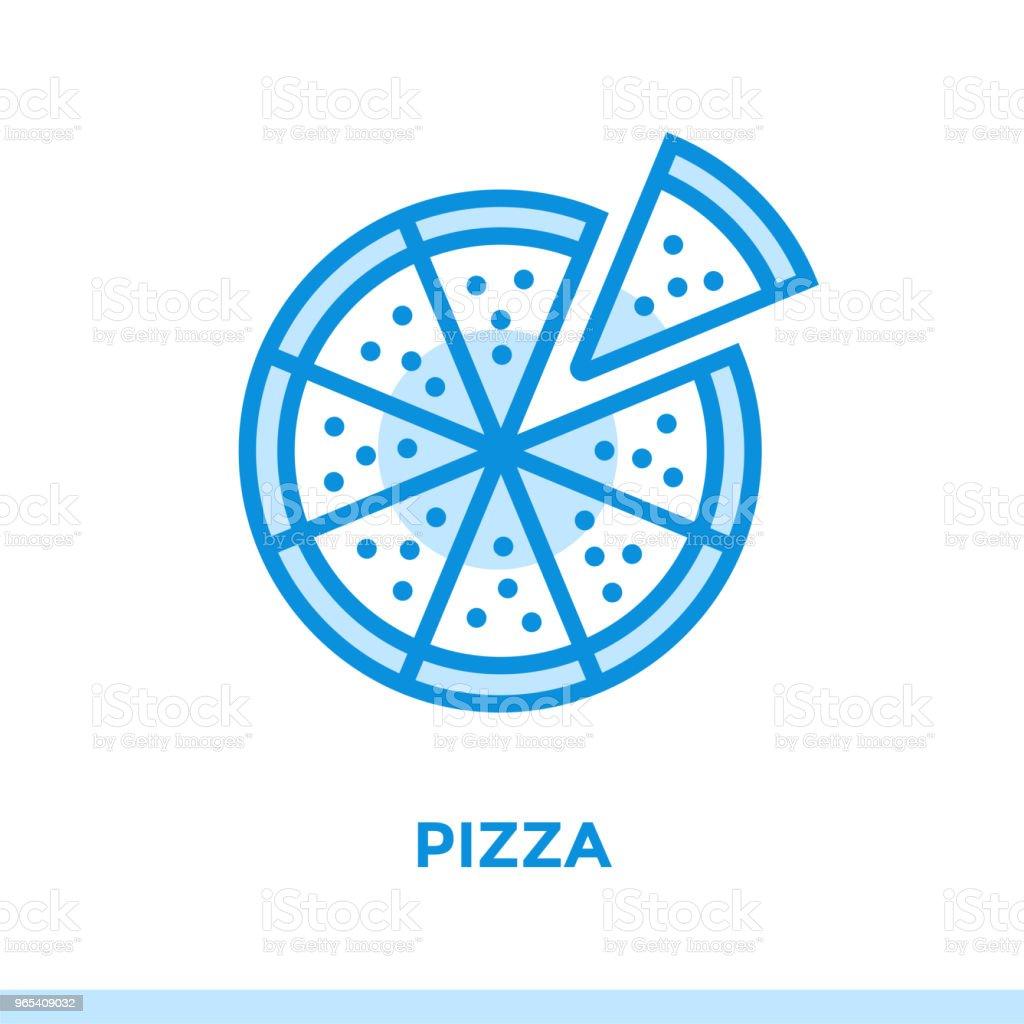 Outline PIZZA icon. Vector pictogram suitable for print, website and presentation outline pizza icon vector pictogram suitable for print website and presentation - stockowe grafiki wektorowe i więcej obrazów bez ludzi royalty-free