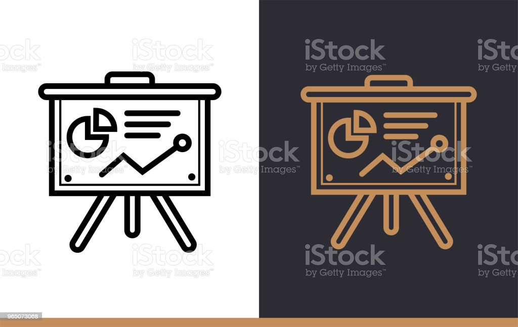 Outline presentation icon for startup business. Vector line icons suitable for info graphics, print media and interfaces outline presentation icon for startup business vector line icons suitable for info graphics print media and interfaces - stockowe grafiki wektorowe i więcej obrazów bez ludzi royalty-free