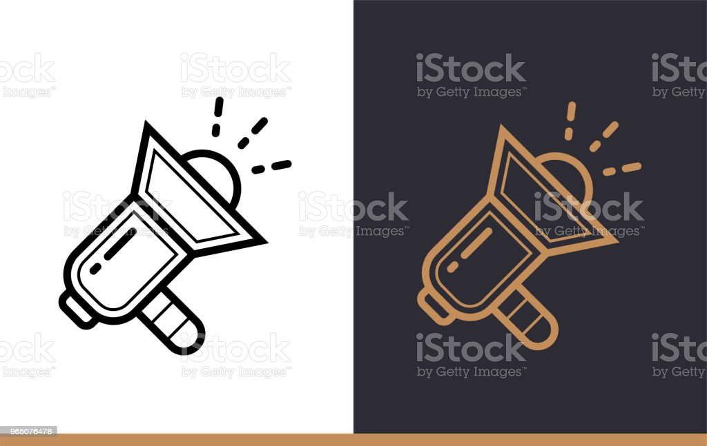 Outline promote icon for startup business. Vector line icons suitable for info graphics, print media and interfaces outline promote icon for startup business vector line icons suitable for info graphics print media and interfaces - stockowe grafiki wektorowe i więcej obrazów bez ludzi royalty-free