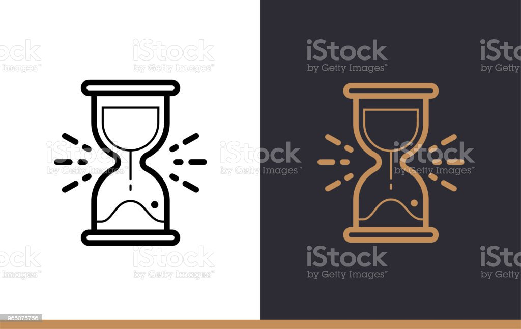 Outline sand clock icon for startup business. Vector line icons suitable for info graphics, print media and interfaces royalty-free outline sand clock icon for startup business vector line icons suitable for info graphics print media and interfaces stock vector art & more images of business